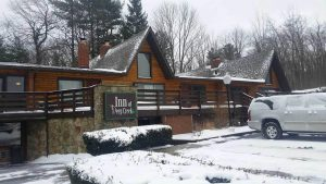 Inn at Deep Creek Exterior dusted with snow