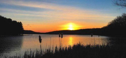 Inn at Deep Creek lake at sunset