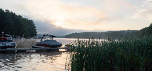 Deep Creek Lake Maryland docks and boats