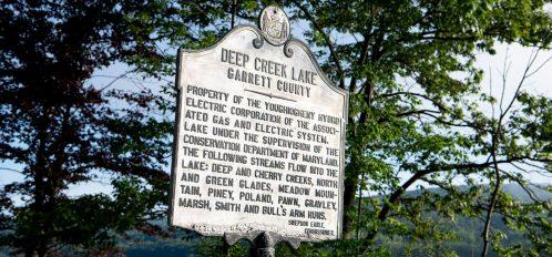 Deep Creek Lake Maryland historical marker