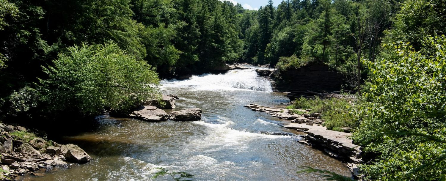 Deep Creek Lake Maryland stream and waterfalls