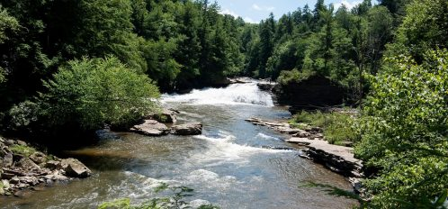 Deep Creek Lake Maryland stream and waterfalls