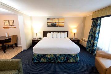 Inn at Deep Creek Executive King view to bed