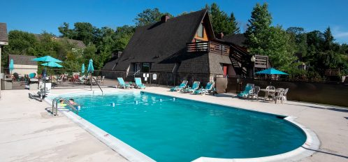 Inn at Deep Creek exterior pool area