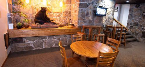 Inn at Deep Creek lobby bear statue