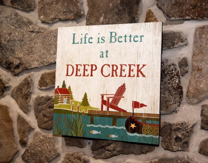 Inn at Deep Creek lobby life better at DCL sign
